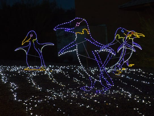 Displays illuminate at ZooLights at the Phoenix Zoo