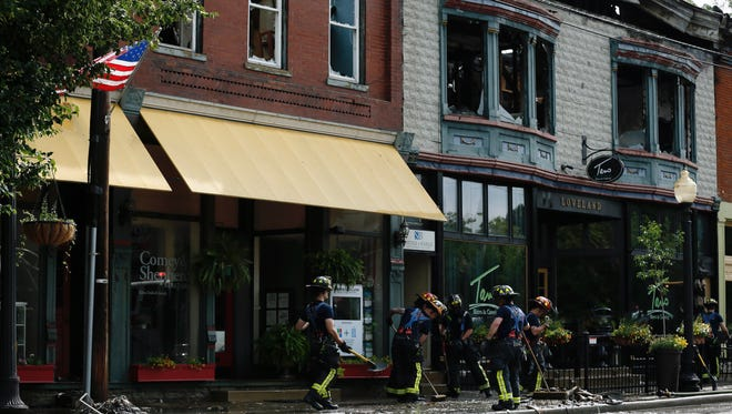 Major damage was caused to buildings in Loveland's historic district.