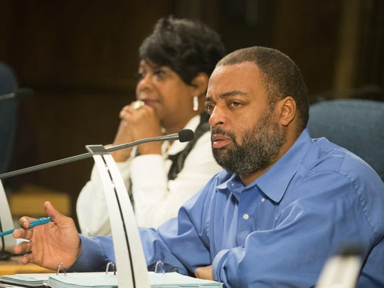 Wilmington Councilman Vash Turner speaks during budget hearings Wednesday in the City Council Chambers.