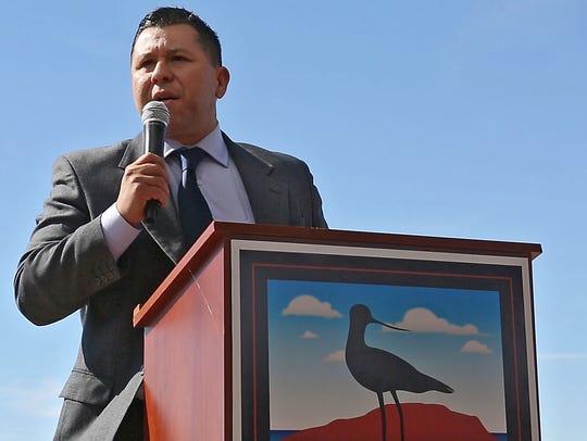 Assemblymember Eduardo Garcia speaks during the groundbreaking