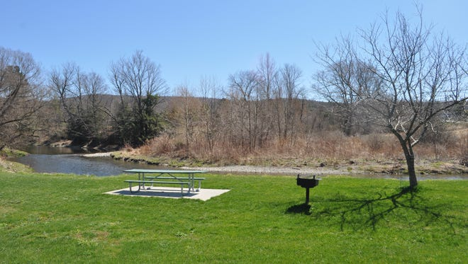 The Pinckney Road property, pictured here on the opposite side of Six Mile Creek, is adjacent to the Campbell Meadow public recreation area, foreground.