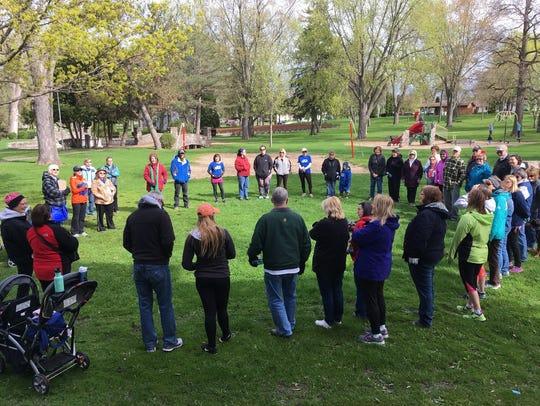 The Beaver Dam community gathered at Swan City Park