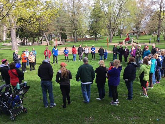 The Beaver Dam community gathered at Swan City Park