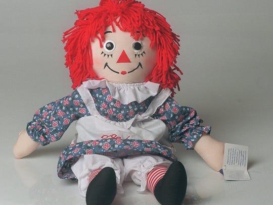 A Raggedy Ann doll.