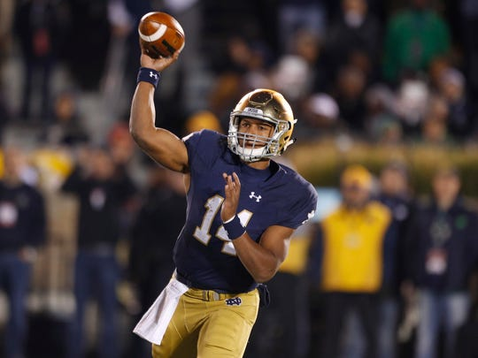 Notre Dame QB DeShone Kizer has been a steadying presence for the Irish,