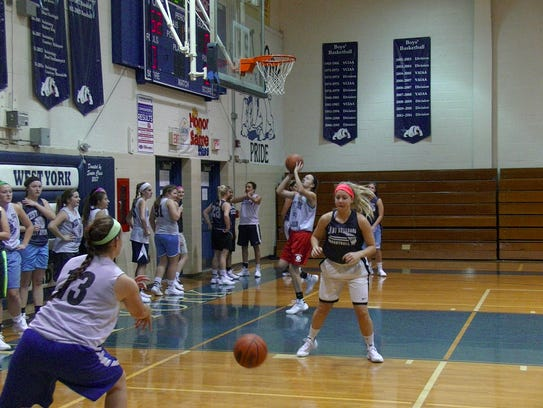 The West York girls' basketball team opened practice