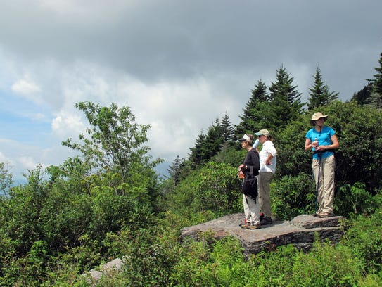The hike to Grey Eagle includes many rock outcroppings