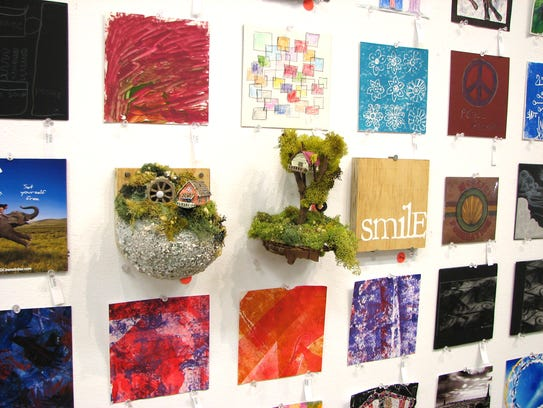Works in the 6x6 exhibit at Rochester Contemporary