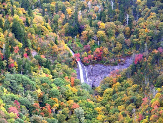 """""""Glassmine Falls can be observed from the Blue Ridge"""