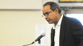 Ralph Vellon addresses the Belleville Board of Education during the public comment portion of  a meeting six years ago, on Aug. 1, 2011.