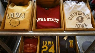 Ankeny-based Tailgate Clothing Co. sells vintage-inspired collegiate apparel.