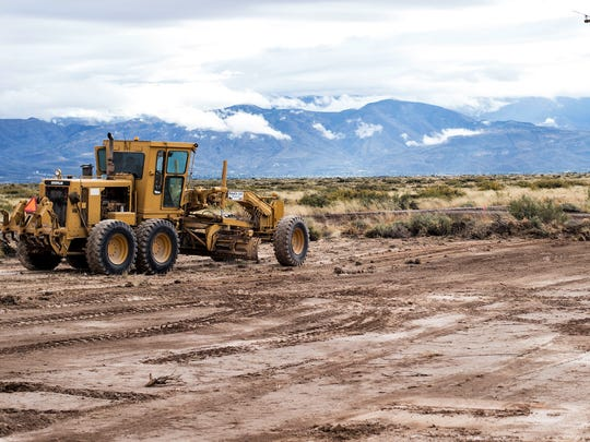 Site work has begun for the $13 million solar plant at Holloman Air Force Base.