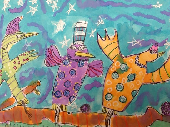 Flying, by Litzy Barahona, a third-grader at Friendship