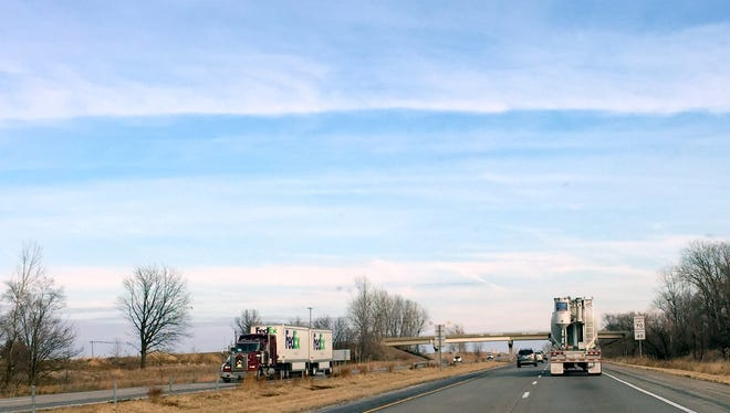 Traffic on Interstate Highway 80 just east of the Des Moines area last week. State officials are looking at plans to widen the corridor from four lanes to six lanes to accomodate more cars and trucks.