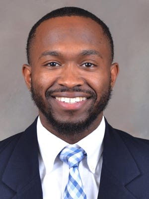 """Thomas University's new men's basketball coach Taylor """"T.J."""" Rines played basketball at Effingham County High School before graduating in 2012."""