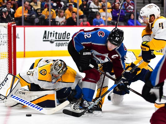 NHL: Nashville Predators at Colorado Avalanche