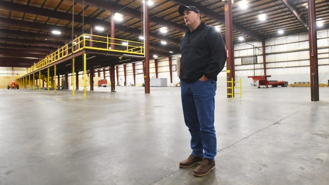 Adam Holmes, chief executive officer at Frueh Enterprises, talks about the space available at the company's new building east of Zanesville.