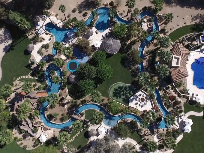Paradise Valley Mansion With Lazy River Price Dropped To 44848M Fascinating Backyard Lazy River Creative