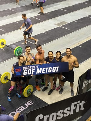 Gof Metgot: The CrossFit Gof Metgot team from Custom Fitness competes at the CrossFit Pacific Regional event May 22-2-4 in Wollongong, Australia.
