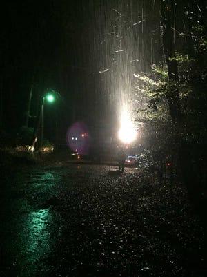 Firefighters respond to a water main break on Greenville's Eastside.