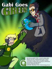 """The promotional poster for """"Gabi Goes Green!,"""" the"""