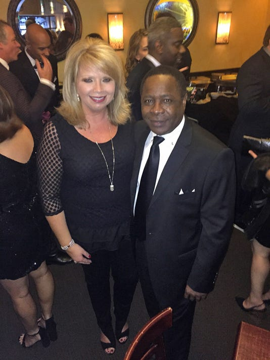 McPhee with Pearson at Grammys 2015.jpg