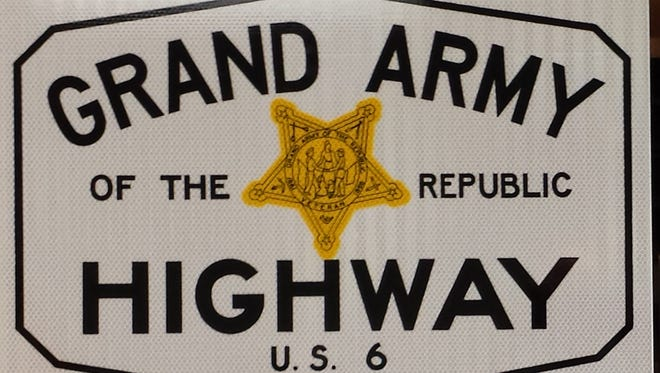 Two signs similar to this one will be posted on the approaches to Brooklyn on Old Highway 6, also known as the Grand Army of the Republic (GAR) Highway.