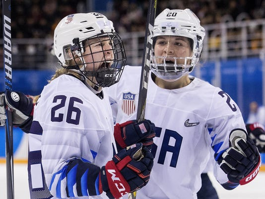 US women rally to win Olympic hockey opener, 3-1, over Finland