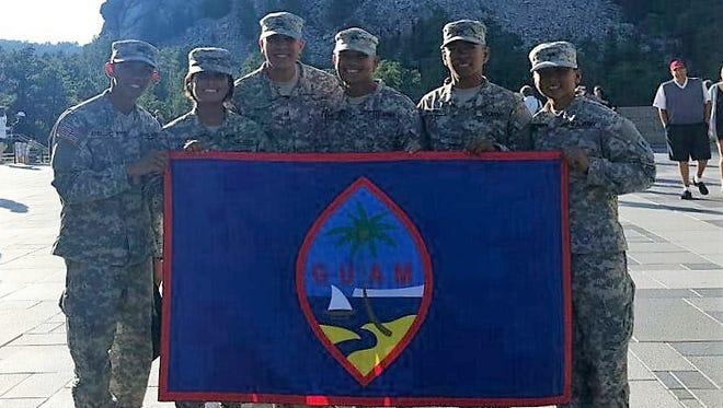 From left: Officer candidate (OC) Rainer Christian Arellanno, OC Christine Legaspi, OC Joaquin Diego, OC Bryant Bamba, OC Napu Castro and OC Sheryl Padilla.