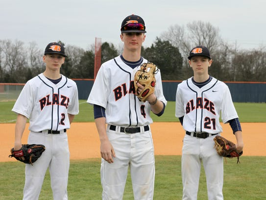 Blackman baseball players and brothers (l-r) Jacob,