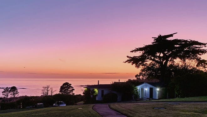 Sunset view from my room at Little River Inn, Mendocino.