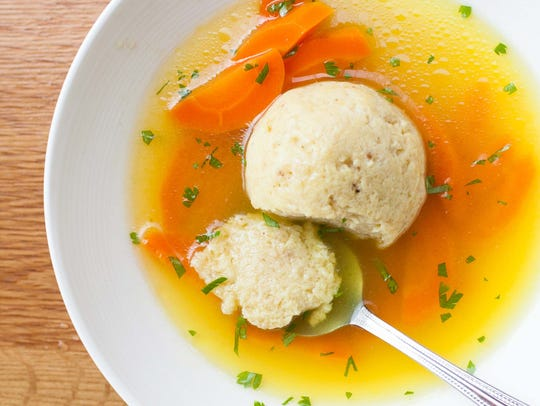 Don and Charlie's matzo ball soup, which will be served