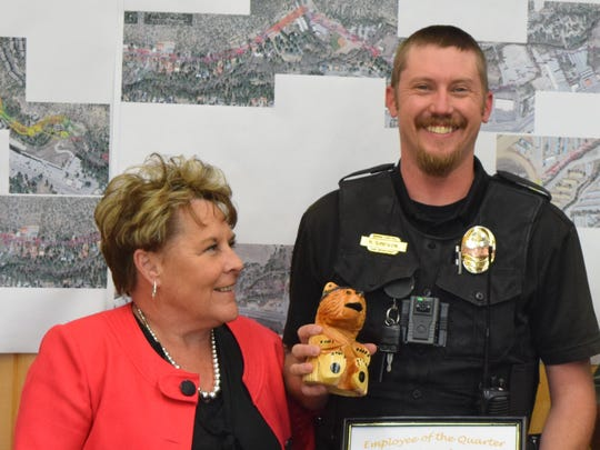 Robert Simpson was named employee of the quarter for public safety.