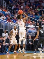 Florida State guard Braian Angola-Rodas (11) led all
