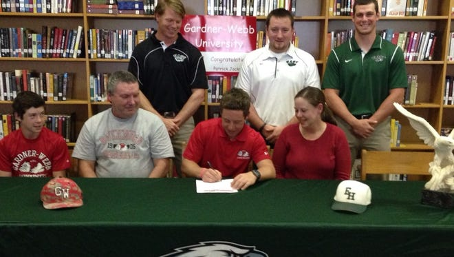 East Henderson senior Patrick Jackson has signed to play college baseball for Gardner-Webb.