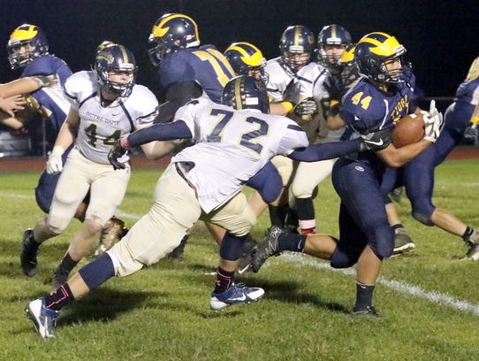 Tioga's Justin Rocwell breaks free from Elmira Notre