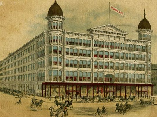 Built in 1887, the Hugh O'Neill department store on