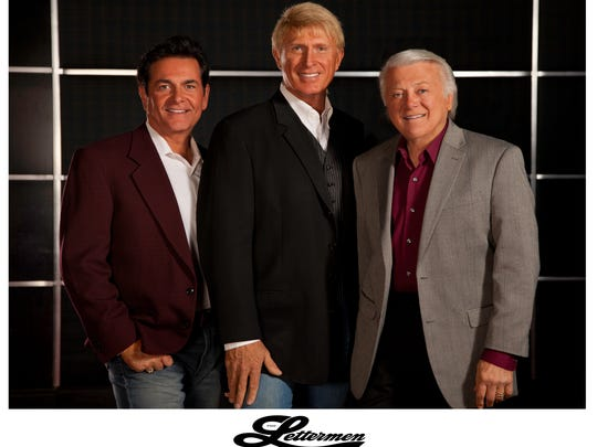 From left: Bobby Poyton, Donovan Tea and founder of the group Tony Butala make up The Lettermen.