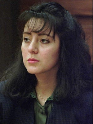Lorena Bobbitt, shown in a January 1994 file photo, became an international celebrity when on June 23, 1993, she pulled back the sheets of her unhappy marriage bed and cut off the penis of her husband, John Bobbitt.