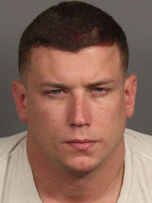 Police say Jeremy Rockwell, 33, beat his girlfriend until her face bled.