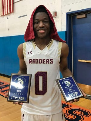 James I. O'Neill's Darius Boben earned MVP honors at the John Guerra Memorial Spartan Invitational, leading the Raiders to a 62-37 win over Port Jervis in the championship game.