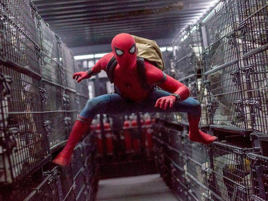 "Tom Holland stars as Spider-Man in ""Spider-Man: Homecoming."""