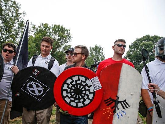 White nationalists protest in Charlottesville, Va.,