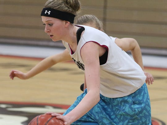 Sophomore Amber Baehman is one of many reasons why Tri-County has seen an upturn in its basketball fortunes in recent years.