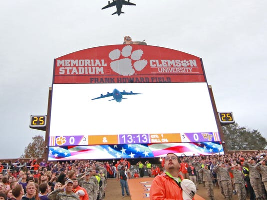 Clemson vs Wake Forest in Memorial Stadium  Dabo Swinney head coach Tiger Walk Deacons Tigers