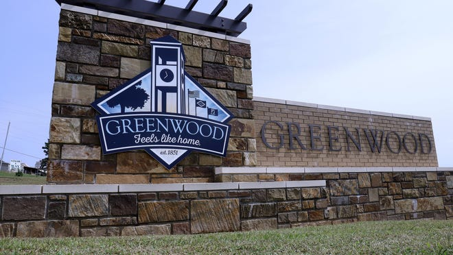 The Greenwood welcome sign as seen, Thursday, Sept. 17, on State Highway 10 entering U.S. 71 South.