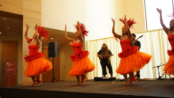 Dancers of Na Leo Kupono perform Samoan, Tahitian and Tongan dances during last year's Experience Polynesia at the Musical Instrument Museum.