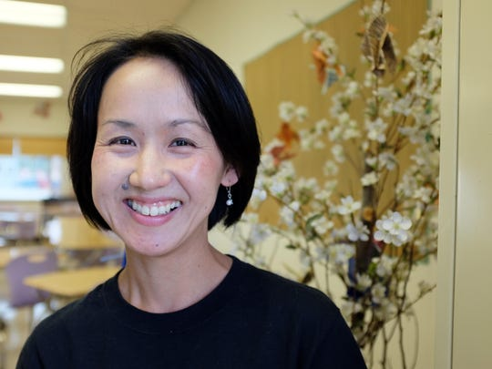 Minako Kamimura, who is in her first year as a full-time instructor of Japanese at Salinas High School.