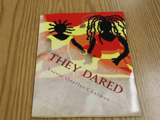 "Yvette Quarles Chatman taught students at Boswell Elementary School Friday, Sept. 15, 2015, about African-American history using her book, ""They Dared."""