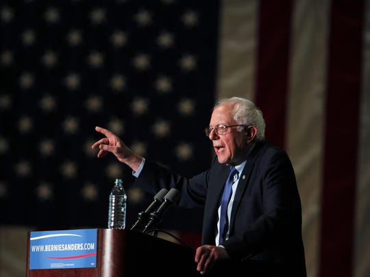 Sen. Bernie Sanders, I-Vt., says he is pleased by the